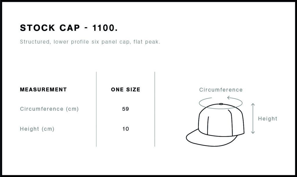 AS Colour stock cap size guide